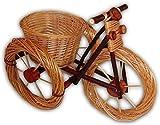 Wilpo Cesta de Flores 60x32x44 Cesta de Plantas Bicicleta Sauce Decoración de jardín Macetero Maceta