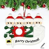 Sopravvissuto Famiglia Ornamento 2020 Quarantena Personalizzato Ornamenti Di Natale Decorazioni Per L'Albero Di Natale Ornamenti Famiglia Di Albero Di Natale Ornamento Home Decor Regali Di Natale