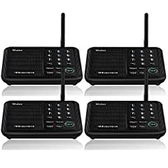 [ Excellent Signal ] Home intercom system with clear sound quality and long range. An enhanced signal with 5280 feet range helps ensure crisp sound quality. The most trusted wireless intercom system for home! [ 10 Channel and 3 Digital Code ] 10 chan...