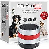RelaxoPet PRO Tierentspannungs-Trainer | Version 2020 | Für Hunde | Beruhigung durch Klangwellen | Ideal bei Gewitter, Alleinsein oder auf Reisen | Hörbar und unhörbar