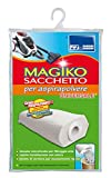 Parodi & Parodi Magiko Sacchetto Aspirapolvere Universale e Riutilizzabile, Polipropilene, Bianco, 13x24x1 cm