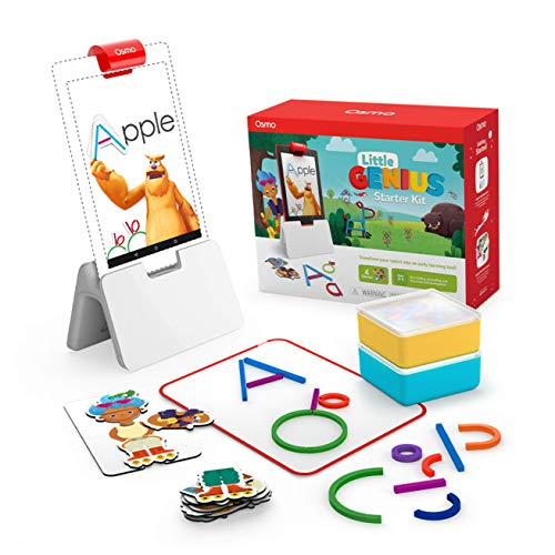 Osmo - Little Genius Starter Kit for Fire Tablet - 4 Educational Learning Games - Preschool Ages - Problem Solving, & Creativity - STEM Toy (Osmo Fire Tablet Base Included - Amazon Exclusive)