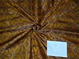The Yard Brokat-Stoff, Seidenbrokat, 111,2 cm, Braun