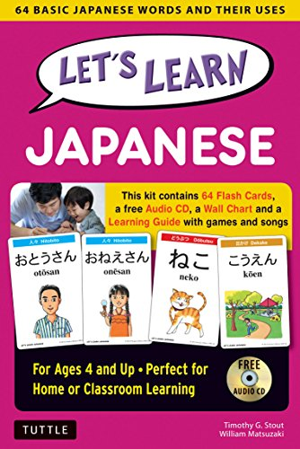 Let's Learn Japanese Kit: 64 Basic Japanese Words and Their Uses (Flash Cards, Audio CD, Games & Songs, Learning Guide and Wall Chart)