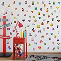 Mendder 創造的な漫画の大きな目小さいモンスターの壁のステッカー幼稚園子供室の寝室の装飾