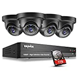 SANNCE Security Camera System 8CH 5in1 5MP CCTV DVR 1TB Hard Drive Pre-Installed