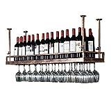 DJSMjbj Support À Vin en Bronze - Plateau De Décoration De Plafond Suspendu en Verre À Vin Suspendu en Fer Style Morden pour Bar, Restaurants, Cuisine Ou Cave À Vin (Size : 120cm)