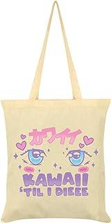 Kawaii 'Til I Dieee Tote Bag Cream 38 x 42cm