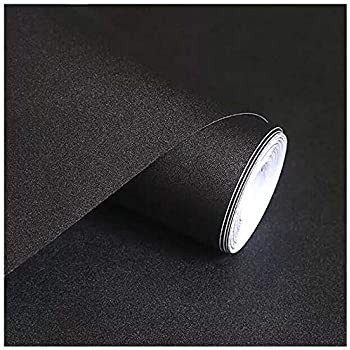 Black Wallpaper H2mtool Removable Self Adhesive Wallpaper Peel And Stick For Cabinets Countertops Furniture Decor 17 7 X 78 7 Black Amazon Com