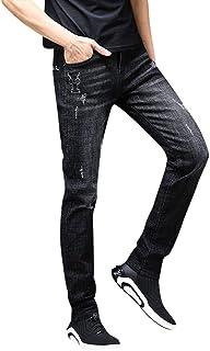 ジーンズ ダメージジーンズ 男性 メンズ デニムパンツ テーパードパンツ ストレート ファッション スキニー ストレッチ カジュアル やわらか タイト 細身 美脚 Gパン ブラック