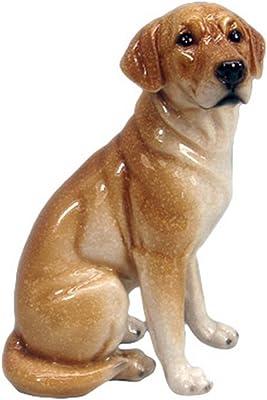 Hi-Line Gift Ltd Labrador Dog Sitting Figurine, 7.5-Inch, Brown Glossy Finish