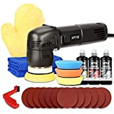Polisher, SPTA Orbital Car Polisher 3 Inch 10mm/780W Variable Speed Orbit Dual Action Polisher Auto Detailing Tools Come with DA Polishing Pads+Sanding Discs+Pad Conditioning Brush+Car Scratch Remover
