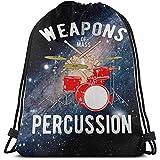 Armes de Masse Percussion Drumstick Drum Player Sacs à Cordon Gym Sac de Voyage Personnalité Logo Sac à Cordon