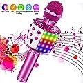 ♫. Microfono wireless tutto in uno Karaoke - I microfoni wireless portatili possono essere utilizzati come microfono, altoparlante bluetooth, registratore e radio. Mini KTV domestica per riprodurre musica e cantare in qualsiasi momento. ♫ Qualità aud...