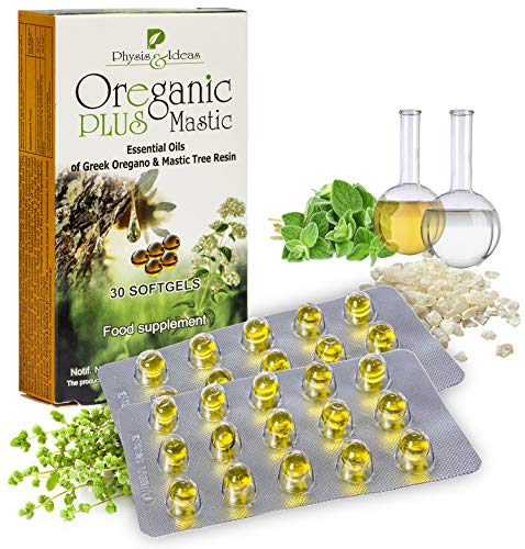 Oreganic Plus Mastic - Oil of Oregano Capsules with Mastic - Revolutionary Blend Oregano Oil Capsules- Immune System Booster and Intestinal Support - Non-GMO - 30 Count Hygiene Pack Blister
