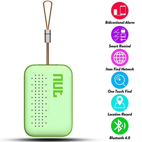 Smart Tag NUT Mini Bluetooth Anti-lost GPS Tracker Tracking Wallet Luggage Pets Key Finder Locator Sensor Remote Alarm for iOS/Android (Green)
