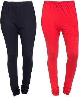 e612ccc918af56 Aashish Fabrics Women's Plus Size Cotton Lycra Churidar Leggings (Pack of  ...