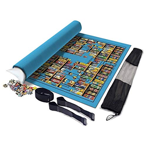 Erwachsenenpuzzle Kinderpuzzle Puzzle Isomatte 2000 Teile Puzzle Lagerung Puzzle Saver, umweltfreundliches Material, Shop Puzzles (Color : Blue)
