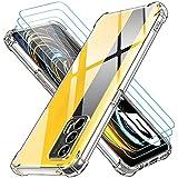 ivoler Klar Hülle für Realme GT 5G mit 3 Stück Panzerglas Schutzfolie, Dünne Weiche TPU Silikon Transparent Stoßfest Schutzhülle Durchsichtige Kratzfest Handyhülle Hülle
