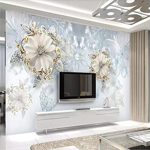 Wandscherm, 3D, groot minimalistisch, abstract, modern sieraad, verlicht, vlinders en bloemen, van zijde, stof, 5D, voor het afdrukken van foto's, muurkunst, decoratie voor woonkamer, slaapkamer, kantoor 300cm(W) x 200cm(H) (9.84 x 6.56) ft