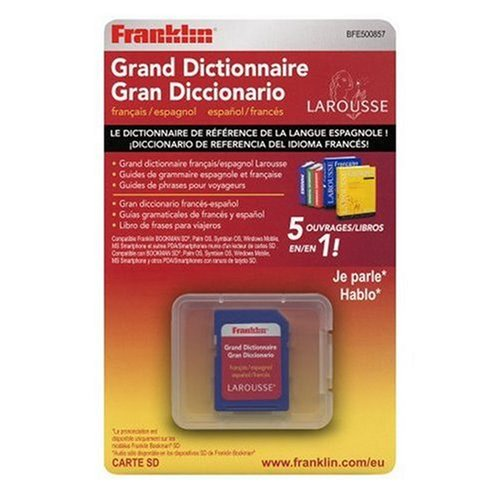 Franklin BFE-500857 Larousse Großes elektronisches Wörterbuch Französisch-Spanisch für Bookman-SD, Handhelds mit Palm-, Windows mobile-, Symbian-OS + SD-Slot