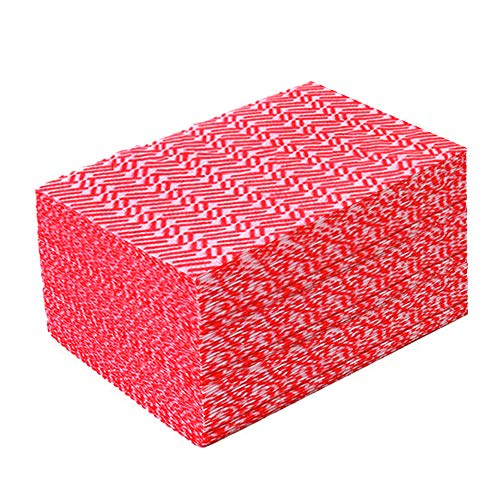 JEBBLAS Disposable Cleaning Towels Dish Towels and Dish Cloths Reusable Towels,Handy Cleaning Wipes,50 Count/Pack,Red