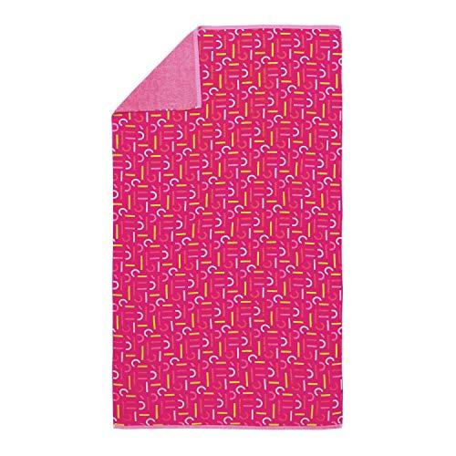 ESPRIT Strandlaken Strandtuch Loki Pink Striche Strandtuch 100 cm x 180 cm