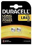 Duracell LR 43, Piles Bouton, 2 Piles