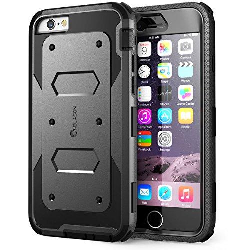 i-Blason Apple iPhone 6 / 6S (4.7 Zoll) Hülle Armorbox Case Outdoor Handyhülle Stoßfest Schutzhülle Bumper Cover mit integriertem Displayschutz, Schwarz