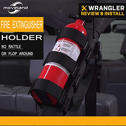 Fire Extinguisher Holder Adjustable Roll Bar, Moveland Fire Extinguisher Mount Strap for TJ YJ JK