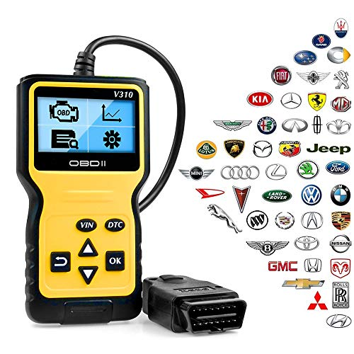 ATDIAG OBD2 ScannerCar Code Reader Enhanced Universal Car Engine Fault Code Reader OBD Scanner CAN Diagnostic Scan Tool for All OBD II Protocol Cars Since 1996