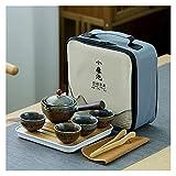 ODSHY Conjunto de té de té Juego de té Chino Cerámica Kung Fu Tea Tetera Tetera con Bolso té Haciendo Viajes portátiles al Aire Libre Servicio de té Taza
