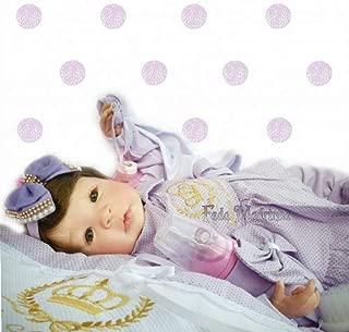 Bebe Reborn Menina Silicone Promoçao Princesa Boneca Poa Lilas