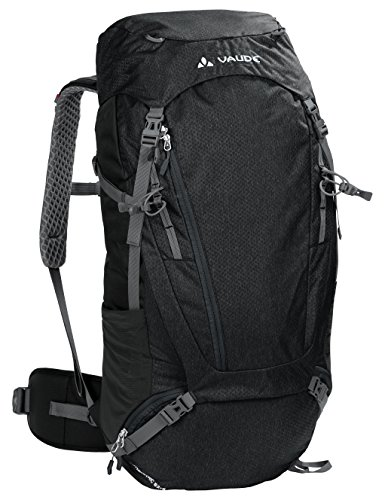 VAUDE Asymmetric  52+8L Touring Backpack for Multi-day Hikes and Trekking | Black