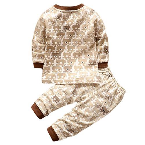Hengsong Ours Grizzly Impression Garçons Filles Coton Pyjama Bébé Four Seasons sous-vêtements...