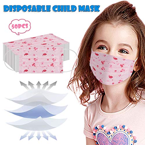 For Sale! Kids 3-ply Non-Woven Face Bandana, Sun UV Protection Neck Gaiter Girls Boys Students Reusa...