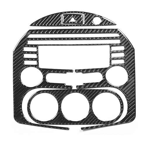 aqxreight - Moldura de control central, 4 piezas de fibra de carbono, kit de decoración de marco de panel de control central para el tablero de instrumentos para MX-5 / Roadster NC(A)