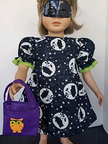 "Handmade! Glow in the Dark HALLOWEEN OWL DRESS + Bag + Mask fits 23"" My Twinn"