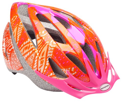 Schwinn Thrasher Lightweight Microshell Bicycle Helmet Featuring 360 Degree Comfort System with Dial-Fit Adjustment, Youth, Orange