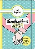 Mini Familienplaner 2021 für die Handtasche für bis zu 5 Personen in DIN B6. Familienkalender 2021 mit stabilem Hardcover. Viel Platz für Termine und ... Stundenplan, Feiertage, Schulferien uvm.