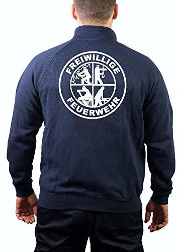 Sweatjacke navy, Freiwillige Feuerwehr mit DFV-Signet