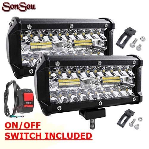 SONSOU Light/Led bar/Work Light White 120 Watts 2pc Universal FFog lamp Heavy for Bikes and Cars