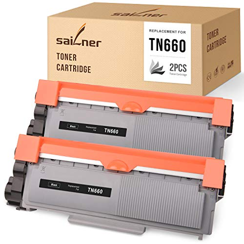 SAILNER Compatible Toner Cartridge Replacement for Brother TN660 TN 660 TN630 use with MFC-L2700DW MFC-L2705DW MFC-L2740DW DCP-L2540DW HL-2360DW HL-L2300DW HL-L2340DW (Black, 2 Pack)