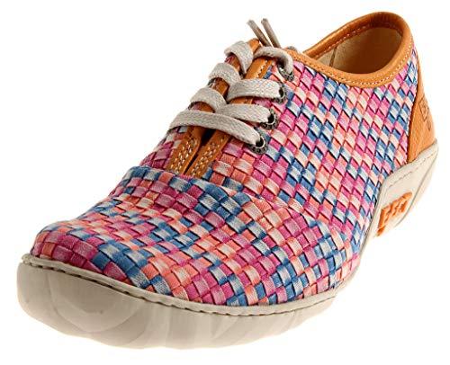 Eject 17070 Diamante Basket Damen Low-Top Lederschuhe Schuhe Schnürer Wechselfußbett Mehrfarbig EU 39