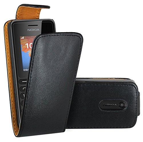 Nokia 108 Hülle, FoneExpert® Hülle Hülle Cover Hüllen Etui Ledertasche Premium Lederhülle Schutzhülle für Nokia 108