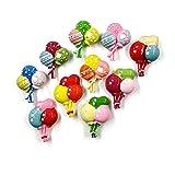 JIAO - 10 unidades de resina para almacenar alimentos y alimentos para frigorífico, para decoración del hogar, jardín, boda, 10 globos