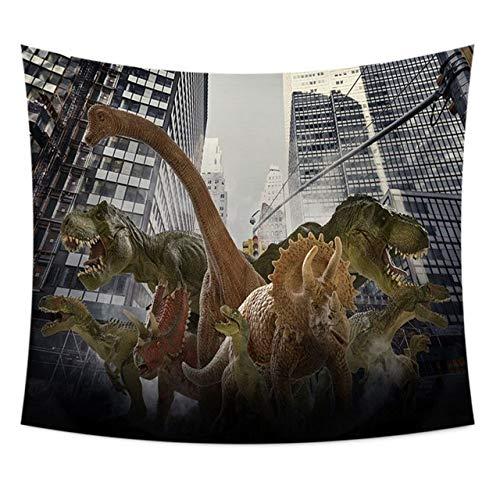 MEOBHI Tapisserie Dinosaurier Hippie Tapisserie Wand Stoff Jurassic Wandteppich Tapisserie Wandbehang Boho Home Decor Decke Picknick, Dinosaurier, 22.150x130cm