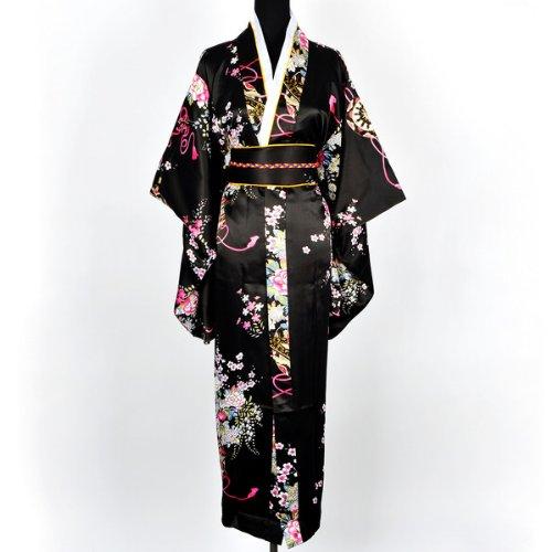 Shanghai Tone® - Kimono japonés con Obi (talla única)