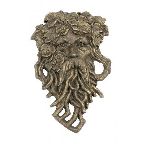 Cast Iron Hanging Bearded Leaf Man Garden Face
