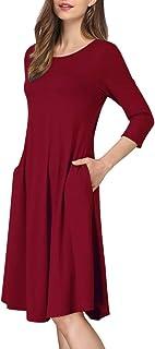 MISSKY Women's Basic Casual Loose Wear Dress (S-5XL)